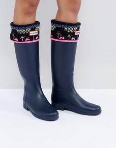 Толстые вязаные носки Hunter Original Arcade - Черный