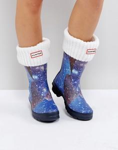 Белые толстые носки Hunter - Белый