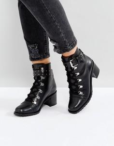 Кожаные походные ботинки ASOS RATIO - Черный