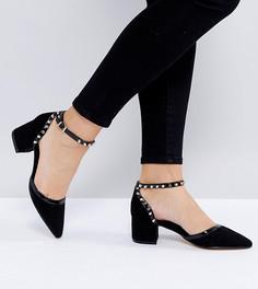 Туфли на среднем каблуке для широкой стопы Truffle Collection - Черный