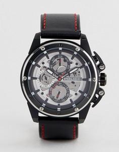 Черные часы с дополнительными циферблатами Police - Черный