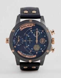 Черные часы Police Adder - Черный