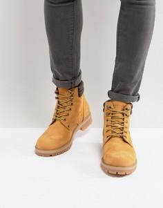 Замшевые ботинки медового цвета Jack & Jones Stoke - Светло-бежевый