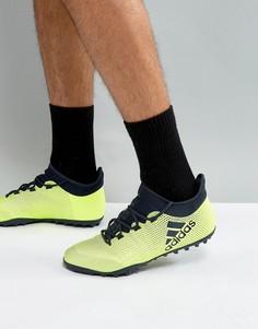 Желтые кроссовки adidas Football X 17.3 Astro Turf CG3727 - Желтый