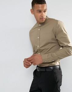 Хлопковая рубашка узкого кроя Threadbare Premium - Рыжий