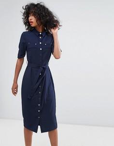 Платье-рубашка миди Liquorish - Темно-синий