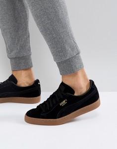 Черные замшевые кроссовки на резиновой подошве Puma 36324221 - Черный