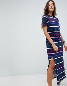 Платье-футболка макси в полоску ASOS Ultimate - Мульти