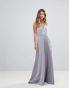 Платье макси на бретельках Glamorous - Серебряный