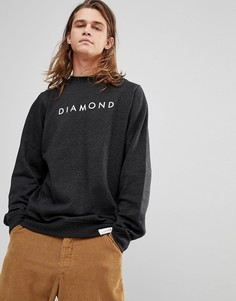 Свитшот с логотипом Diamond Supply - Серый