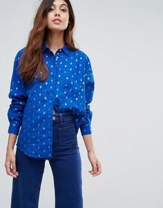 Рубашка с принтом Maison Scotch - Синий