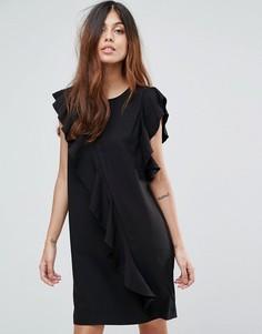Платье с асимметричной оборкой Vero Moda - Черный