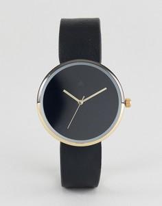 Золотисто-черные минималистские часы ASOS - Черный