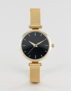 Часы с сетчатым ремешком эксклюзивно для ASOS CURVE - Серебряный