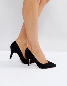 Туфли на высоком каблуке с острым носом London Rebel - Черный