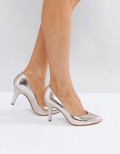 Туфли на высоком каблуке с острым носом London Rebel - Золотой