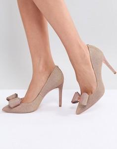 Туфли-лодочки цвета розового золота на каблуке Ted Baker Azeline - Золотой