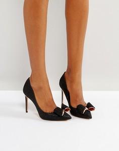 Черные блестящие туфли-лодочки на каблуке Ted Baker Azeline - Черный
