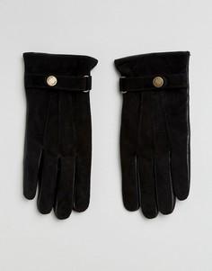 Кожаные перчатки Selected Homme - Черный