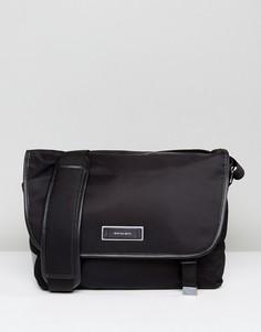 Черная нейлоновая сумка почтальона PS by Paul Smith - Черный