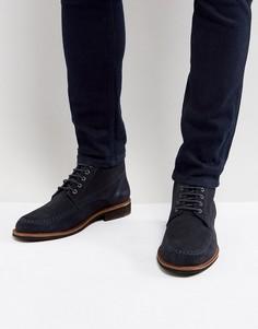 Темно-синие замшевые туфли Silver Street - Синий