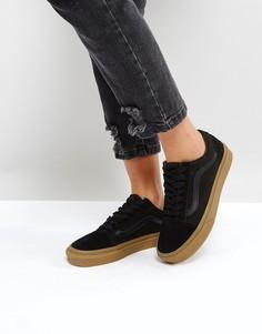 Черные кроссовки на резиновой подошве Vans - Черный