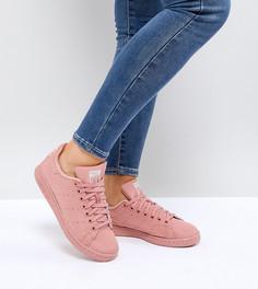 Розовые стеганые атласные кроссовки adidas Originals Stan Smith - Розовый