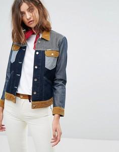 Джинсовая куртка в стиле вестерн Wrangler x Peter Max - Синий