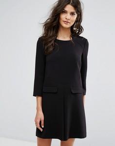 Платье-трапеция с карманами BA&SH - Черный Ba&Sh