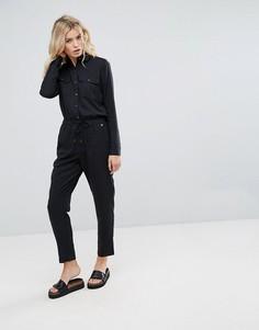 Приталенный комбинезон Pepe Jeans Rovia - Черный