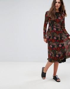 Платье с цветочным принтом Pepe Jeans Peggy - Красный