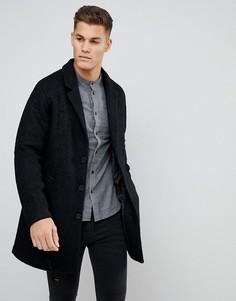 Пальто-кокон из ткани букле Kiomi - Черный