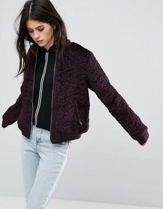Куртка с добавлением шерсти Missguided - Фиолетовый