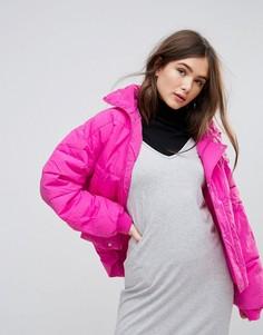 Укороченная стеганая куртка Free People - Розовый