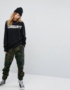 Свободные камуфляжные брюки-карго Carhartt WIP - Зеленый