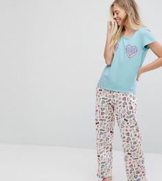 Пижамный комплект Eco Monki Love Me - Розовый
