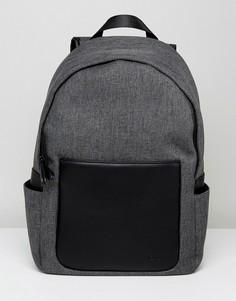 Рюкзак с отделкой искусственной кожей Kiomi - Серый