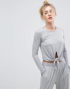 Легкий свитшот с завязкой ASOS LOUNGE - Серый