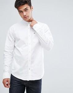 Белая оксфордская рубашка на пуговицах Hollister - Белый