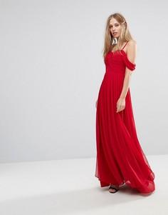 Платье макси с открытыми плечами Y.A.S - Красный