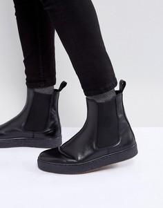 Кожаные ботинки челси на массивной подошве Zign - Черный