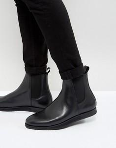 Кожаные ботинки челси на танкетке Zign - Черный