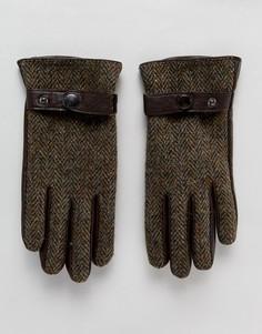 Твидовые перчатки Boardmans - Коричневый