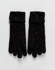 Вязаные перчатки с узором косичка Boardmans Tom - Черный