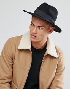 Широкополая мягкая фетровая шляпа Boardmans Cryil - Черный