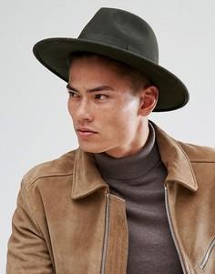 Широкополая мягкая фетровая шляпа Boardmans Cryil - Зеленый