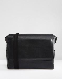 Черный портфель с клапаном River Island - Черный