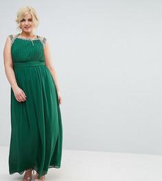 Платье макси с отделкой на спине TFNC Plus WEDDING - Зеленый