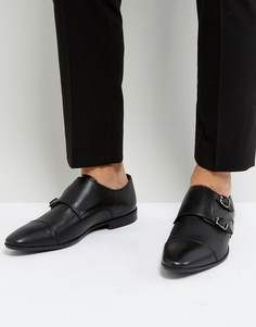 Черные кожаные монки Pier One - Черный