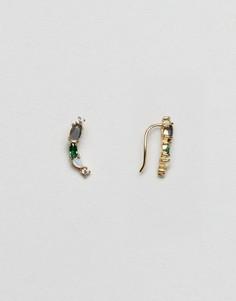 Позолоченные серьги с опалом Orelia - Золотой